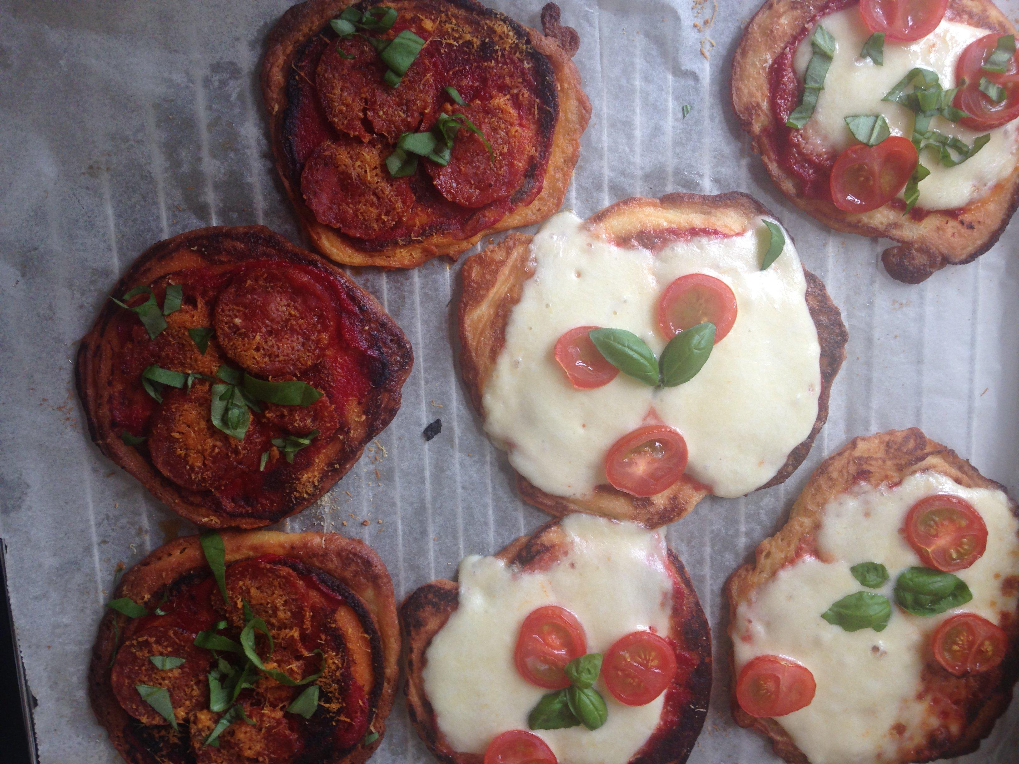 Keto mini pizza's