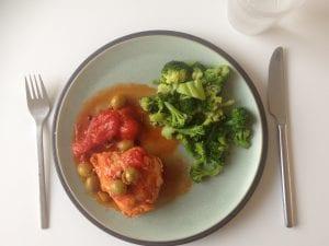 Kip in Italiaanse tomatensaus