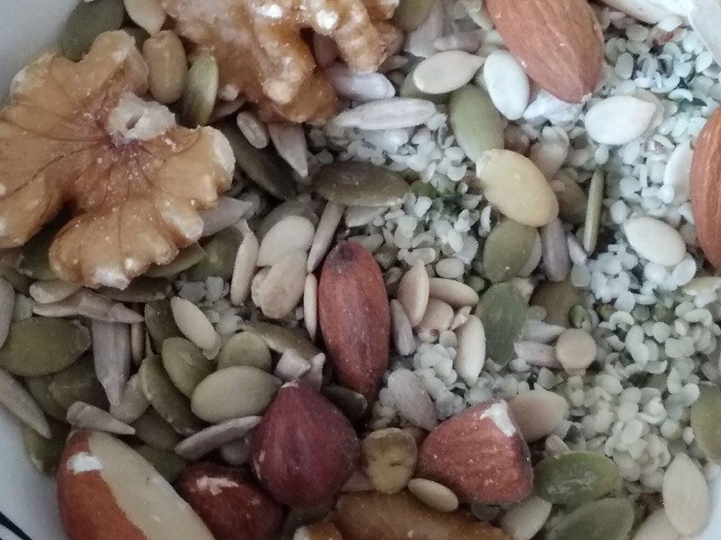 keto noten, pitten en zaden