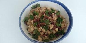 Vegetarische Thaise kerrie schotel