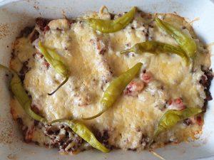 Mexicaanse gehaktschotel met jalapeno pepertjes