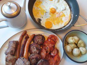 Engels ontbijt zonder varkensvlees