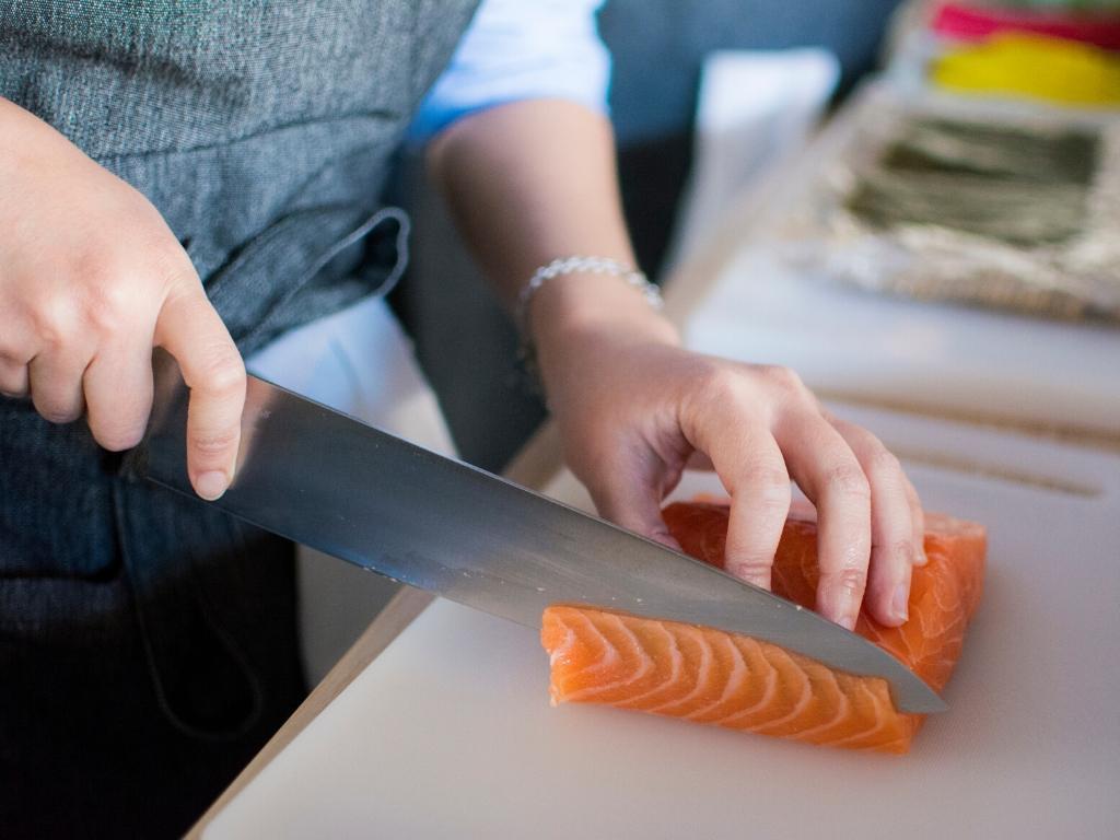 gezonde vette vis: zalm