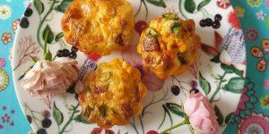 Hartige muffins met chorizo