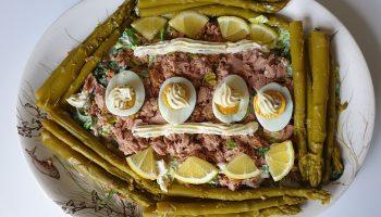 Keto Asperge tonijn maaltijdsalade